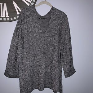NWT Nic & Zoe gray v-neck sweater size 1X